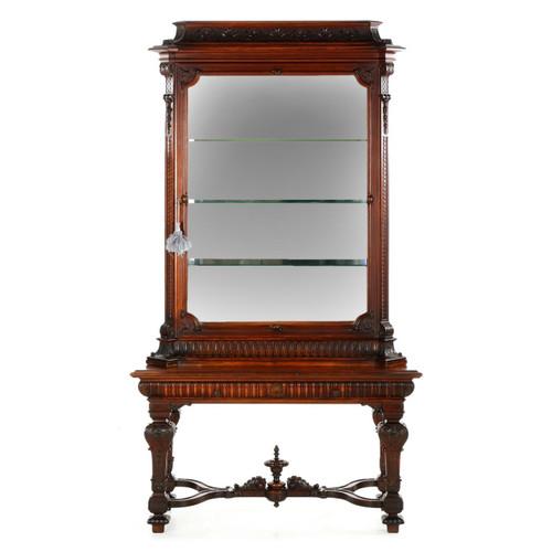 Antique English Display Cabinet Vitrine, 19th Century