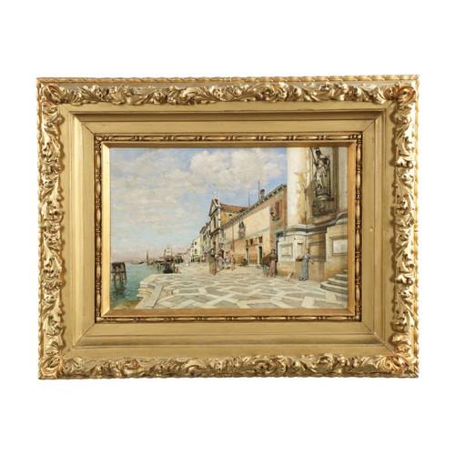 Fine Venetian Street Scene Painting by William Graham c. 1891