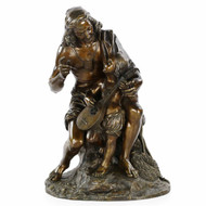 Excellent Bronze Figural Group of a Fisherman and Son, 19th Century