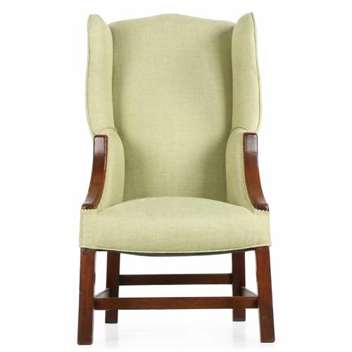 Rare George III Diminutive Wingback Arm Chair, 19th Century