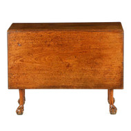 English George II Walnut Ball and Claw Drop Leaf Table