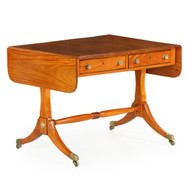 Superb English Regency Satinwood Sofa Table