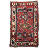 Fine Antique Caucasian Kazak Area Rug circa 1900
