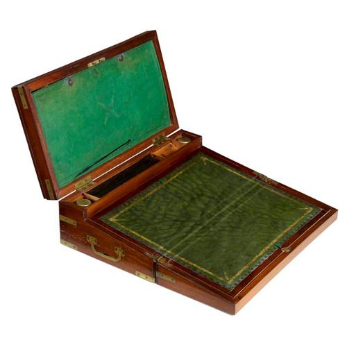 """English Georgian Mahogany and Brass """"Captain's Box"""" circa 1810"""