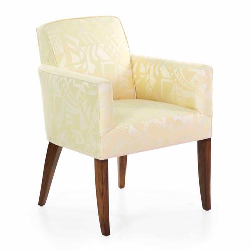 Fine Art Deco Rosewood Arm Chair over Sabre Legs circa 1935