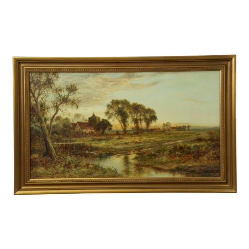 British Countryside Landscape by Daniel Sherrin (England, 1868-1940)