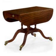 American Classical Mahogany Breakfast Table, New York c. 1815