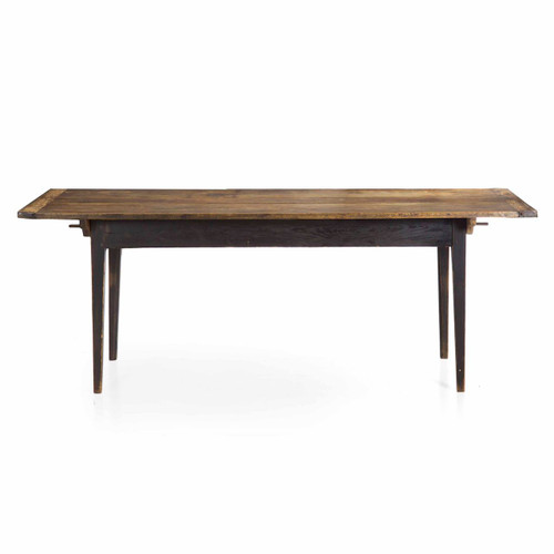 American Primitive Scrubbed Pine Farm Table, 19th Century