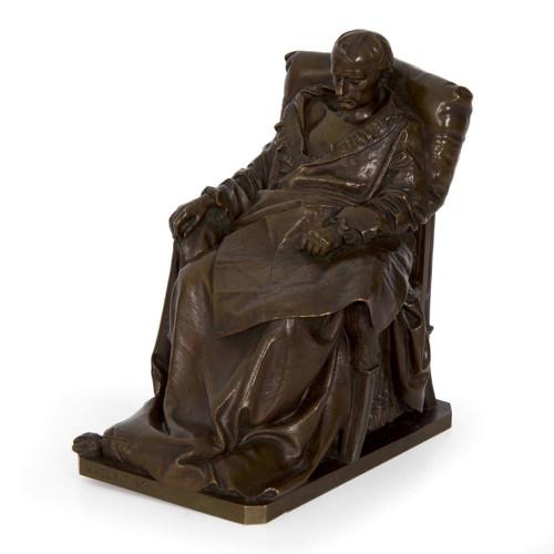 Last Days of Napoleon, bronze | Vincenzo Vela