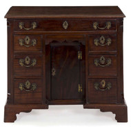English Chippendale Mahogany Kneehole Desk