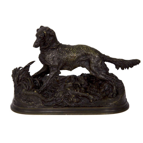 Chien Epagneul no. 69 in bronze | Pierre Jules Mène (French, 1810-79)