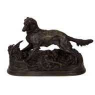 Chien Epagneul no. 69 in bronze | Pierre Jules Mène (French, 1810-79)