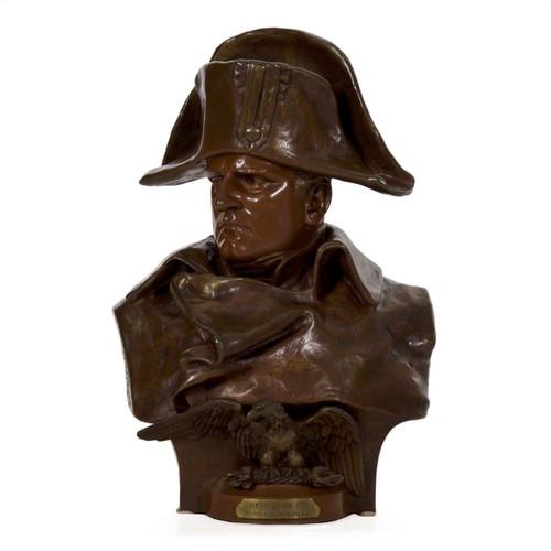 Napoleon 1er, 1812, bronze bust   Renzo Colombo (Italian, 1856-1885)