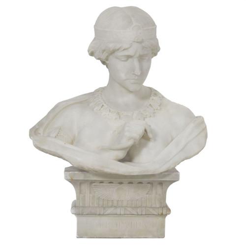 """Cleopatra"" Marble Bust | Aristede Petrilli (Italian, 1868-1930)"