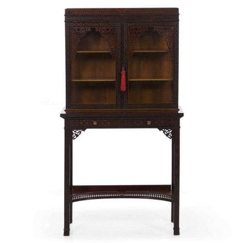 A Fine Chinese Chippendale Style Curio Cabinet by James Lamb