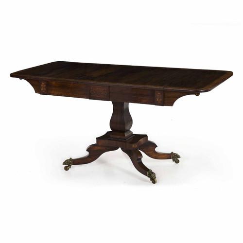 English Regency Inlaid Rosewood Sofa Table circa 1820-40