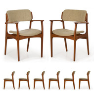 Set of Eight Danish Erik Buch for O.D. Møbler Dining Chairs, Model 49