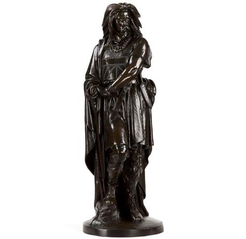 Aime Millet (French, 1819-91) Bronze Sculpture of Vercingetorix