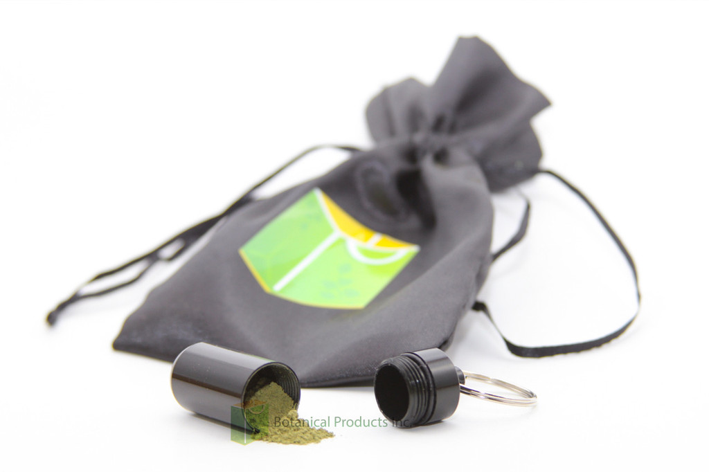 BRAND NEW! Now you can take your Botanical Fine Powder anywhere! This sleek, portable container comes pre-loaded with 2 grams of your choice of Botanical Fine Powder!   *color may vary  Aluminum Pill Box Case Bottle Holder Container Keychain.
