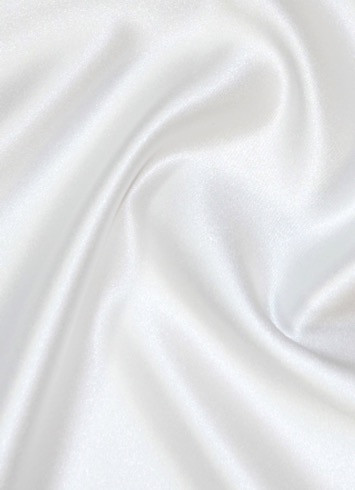 White Duchess Satin Fabric