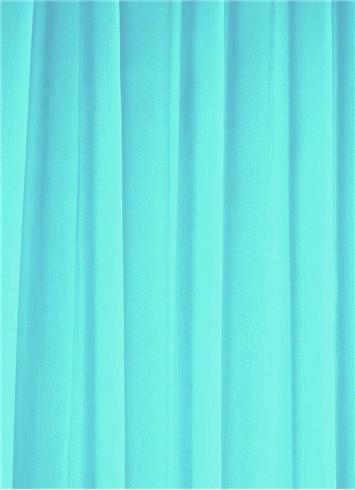Carribbean Turquoise Sheer Dress Fabric