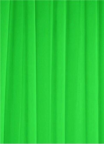 Chartreuse Sheer Dress Fabric
