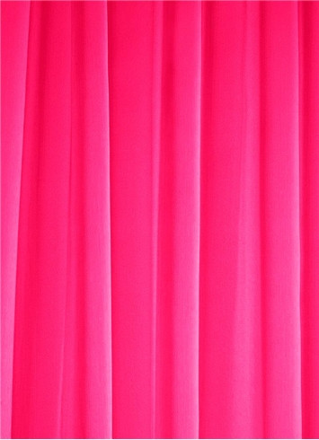 Neon Pink Sheer Dress Fabric