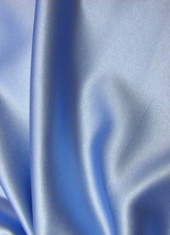 Blue Crepe Back Satin Fabric