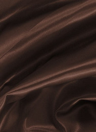 Dark Brown Crepe Back Satin Fabric