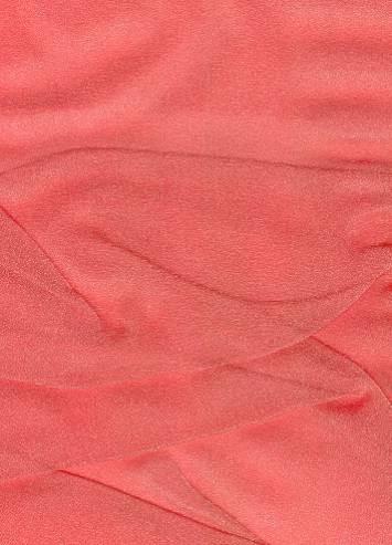 Coral Sparkle Organza Fabric