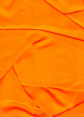 Neon Orange Sparkle Organza Fabric