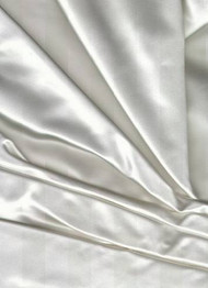 Noble Silk Duchess Satin White Fabric