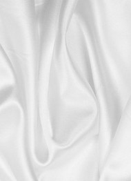 "Poly China Silk White 60"" Lining Fabric"