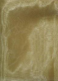 Victorian Gold Crystal Organza Fabric