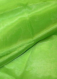 Apple Green Crystal Organza