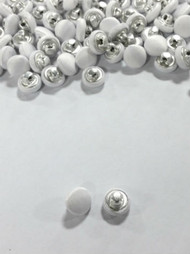 1 Dozen Shank Back Satin Buttons in White