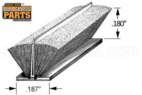 Pile Weatherstripping W Plastic Fin 3 16 Quot Backing 3