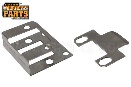 In Swing Adjustable Strike Plate Single