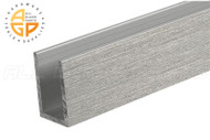 "U-Channel (1"" x 1-1/2"" x 1/8"" ) (Length 12') (Brushed Stainless)"