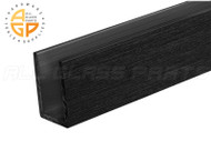 "U-Channel (1"" x 1"" x 1/8'') (Black Anodized) (12' Length)"