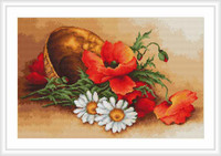 Wild Flowers Petit Cross Stitch Kit By Luca S