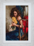 Elegant Lady Yellow Roses Petit Point Cross Stitch Kit