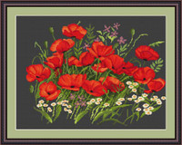 Poppies Ii Petit Cross Stitch Kit By Luca S