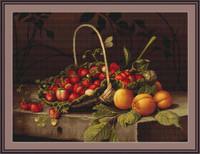 Basket With Strawberries Petit Cross Stitch Kit By Luca S