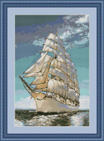 Tall Ship I Petit Cross Stitch Kit By Luca S