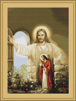 Christ At Hearts Door Petit Cross Stitch Kit By Luca S