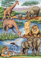 African Wildlife Cross Stitch Kit By Maia