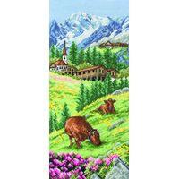 Swiss Alpine Cross Stitch Kit by Anchor