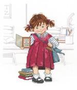 School Girl Cross Stitch Kit by Janlynn