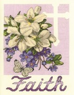 Faith Cross Stitch Kit by Janlynn